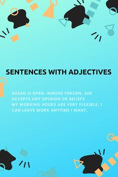 Learn new sentences today English Grammar Online, English Adjectives, Learn English, Sentences, Learning, Learning English, Frases, Studying, Teaching