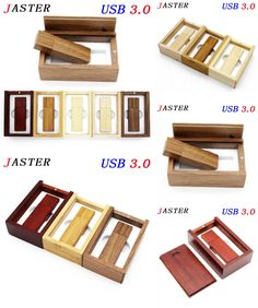 [Visit to Buy] JASTER Photography Customer LOGO wooden usb + gift box usb flash drive usb 3.0 wood pendrive 8GB 16GB 32GB wedding gifts #Advertisement