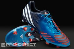 (10) adidas Football Boots - adidas Predator LZ TRX FG - Firm Ground - Soccer Cleats - Blue-White-Infrared