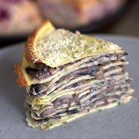 Mushroom Crepe Cake by smittenkitchen.com