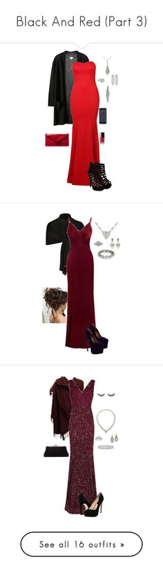"""Black And Red (Part 3)"" by gone-girl ❤ liked on Polyvore featuring Vintage, L.K.Bennett, Chanel, Rhona Sutton, D.anna, Stephan & Co., Mark Broumand, Ben-Amun, CO and Loro Piana"