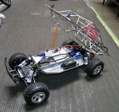 """Traxxas Slash with full 3/16"""" roll cage."""