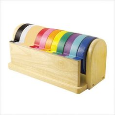 I love pretty much anything in color order, especially art supplies. I have a crush on this lovely wooden kraft tape dispenser - $45 (with 10 rolls of tape).