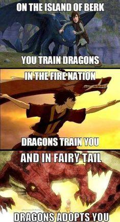 Though, fairy tail was bullshit. ATLA and HTTYD were awesome no fairy tail was not shit fairy tail is my love Anime Fairy, Me Anime, Anime Chibi, Anime Stuff, Memes Br, Funny Memes, Funny Cartoons, Funny Comics, Fairy Tail Meme