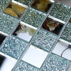 Crystal Glass Backsplash Kitchen Tile Mosaic Design Art Mirrored Wall Stickers Bathroom Shower Floor Mirror Tiles Sheet Decor-in Mosaics fro...