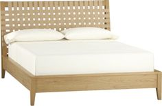 Varick Queen Bed  | Crate and Barrel. Love the jute webbing on the headboard. Could DIY this one!
