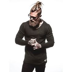 This bold, bristly, and beautiful man. | 23 Beard And Man Bun Combinations That Will Awaken You Sexually