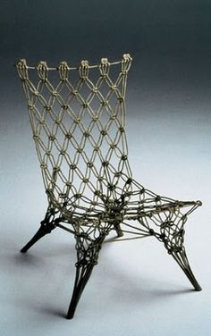 macrame chair - no pictures or tutorial but looking at it helps lot.