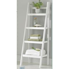 Homestar 4 Shelf Ladder Bookcase