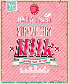 Find Vintage Strawberry Milk Poster Vector Illustration stock images in HD and millions of other royalty-free stock photos, illustrations and vectors in the Shutterstock collection. Pink Lady, Pink Aesthetic, Aesthetic Anime, Strawberry Drawing, Retro Graphic Design, Cupcake Pictures, Pin Up, Milk Shakes, Strawberry Milk