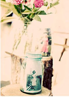 DIY Mother's Day mason jar photo project. Perfect for some hand-picked flowers.