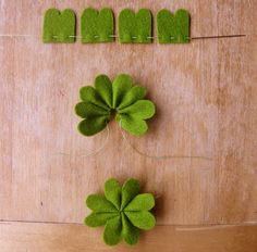 DIY this shamrock garland for your St. Patrick's Day party.