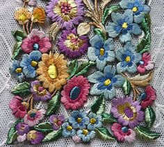 Vintage embroidered lace