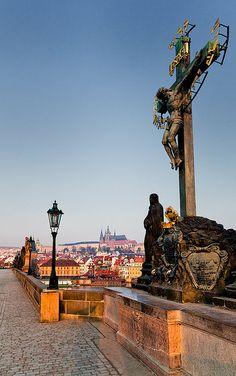 The Czech Republic - Prague: Walking the Cat | Statues along… | Flickr