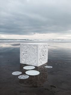 Tracey Tawhiao and George Nuku White Art, Black And White, Maori Art, Ocean Art, Environmental Art, Land Art, Medium Art, Oeuvre D'art, Traditional Art
