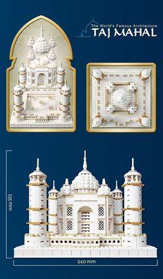 Oxford Blocks Building Toys Taj Mahal Model Special Edition Building Toy Set New…