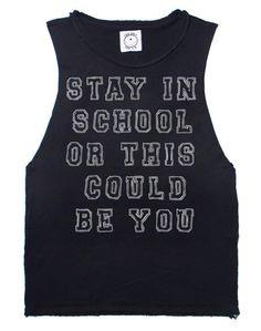 Stay In School Tank