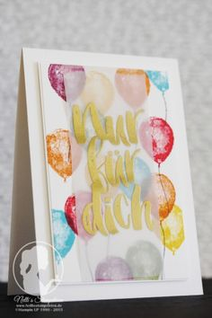 Nur für dich - Nellis Stempeleien Blumen für dich - Sale-a-bration 2016 Botanicals for you; Balloon Builders - Stampin' UP!