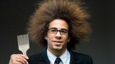 love it :)  handsome black man with afro and pick