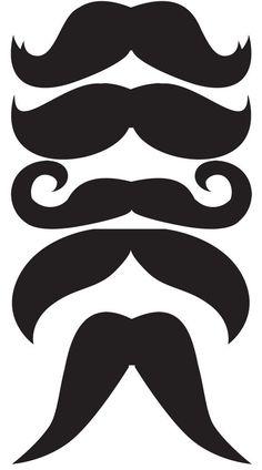 Patrones para ponerle bigotes a todos tus invitados: Imprime, recorta y pega en palitos de madera