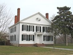 Noah Webster House, built in 1823 in New Haven, CT, and now located at Greenfield Village in Dearborn, MI. Webster's American Dictionary of the English Language was published while he lived here in 1828.