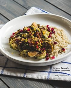 Brussels Sprouts with Bacon and Pomegranate - The Adventures of MJ and Hungryman