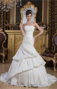 White Winter Bridal Gowns Formal Country Glamorous Modern Classic Full Figure