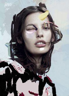 ERNESTO ARTILLO - ARTWORK for IMG models NY FW14