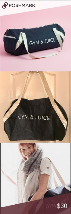 ⚡️ Sale ⚡️Private Party Gym Bag Denim wash gym bag - fabfitfun Bags