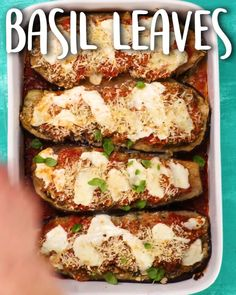 Stuffed Eggplant Parmesan - Stuffed with excellent flavors! Our Test Kitchen made eggplant Parmesan easier (and healthier!) without sacrificing any of the comforting flavor of the original home-cooked dish. Diet Recipes, Vegetarian Recipes, Healthy Recipes, Healthy Snacks, Healthy Eating, Eggplant Dishes, Cooking Eggplant, Comida Keto, Vegetable Dishes
