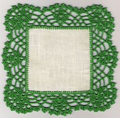 This Pin was discovered by Çağ Crochet Boarders, Crochet Lace Edging, Crochet Fabric, Crochet Stitches Patterns, Crochet Squares, Thread Crochet, Filet Crochet, Crochet Designs, Crochet Doilies