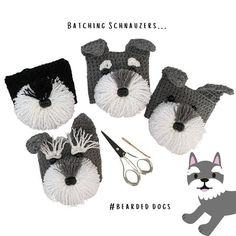 Can you handle the tail wag-worthy cuteness of this Schnauzer cup cozy?! Make this realistic canine creation for yourself or any Schnauzer lover, and they will think you're paw-some! You will never have so much fun crocheting! Dog Coffee, Coffee Cozy, Crochet Dog Patterns, Crochet Hats, Mug Cozy Pattern, Schnauzer, Fun Projects, Crocheting, Dog Lovers