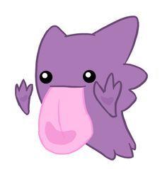 Haunter used Lick? by Kawaii-Kit on DeviantArt Ghost Type Pokemon, Cute Pokemon, Pokemon Go, Haunter Pokemon, Hello Kitty, Minnie Mouse, Disney Characters, Fictional Characters, Nerd
