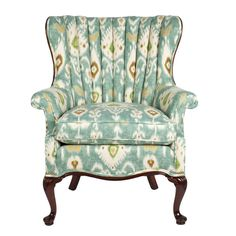 "almost looks like my ""new chair"", love the Ive upholstered a chair with this fabric before and i love it!! channel back."