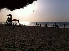 Gambia, Kololi, zonsondergang .