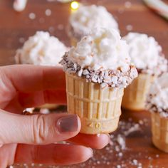 Turns out ice cream cones make perfect shot glasses. #food #drink #easyrecipe #recipe #inspiration #ideas #wishlist #holiday #christmas #hacks