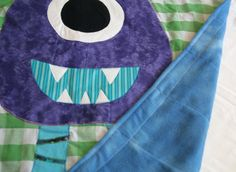 Issac the Three Horned Monster Quilt by jojothedinosaur on Etsy, $39.00