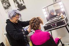 Cristina make up artist with Cantoni make up station. #canoniprofessional #makeupstation #makeupartist