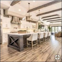 Getting Bored With Your Home? Use These Interior Planning Ideas – Lastest Home Design Home Decor Kitchen, House Design, Home, Luxury Kitchens, Kitchen With High Ceilings, Kitchen Remodel, Home Remodeling, New Homes, Farmhouse Kitchen Design