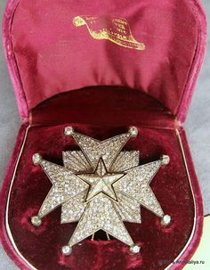 Order of the North Star — Grand Cross star with diamonds presented to the famous polar explorer Adolf Frederik Nordenskiold in 1880 for his achievements as a scientist and as an explorer.  (The Royal Palace of Stockholm, © http://annataliya.livejournal.com/841452.html)
