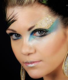 This is my interpretation of a peacock makeup