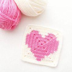 Heart Granny Square, Granny Square Pattern Free, Sunburst Granny Square, Granny Square Projects, Granny Square Blanket, Granny Squares, Crochet Squares, Crochet Square Patterns, Crochet Blanket Patterns