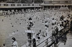Cascade Plunge in its heyday.  I remember it being crowded like this when I went with my city cousin on summer visits with her in Birmingham...slj