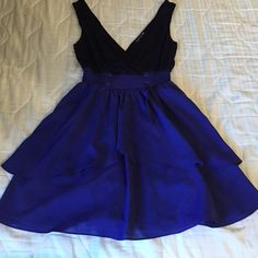 Dark/Light Purple Dress Size Small. Hugs the waist really well. Dark purple top with a lighter purple flowy bottom. Worn only once. Can wear for several different occasions. I'm 5'0 and it falls a few inches above the knee. Double Zero Dresses Mini