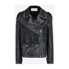 Valentino Biker jacket with black rhinestones (9 715 AUD) ❤ liked on Polyvore featuring outerwear, jackets, moto jackets, valentino jacket, rider jacket, biker jackets and motorcycle jacket