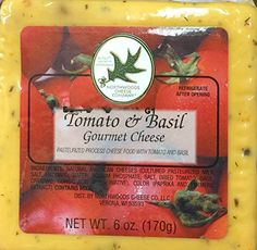 Traditional 6oz Tomato & Basil Gourmet Cheese by Northwoods Cheese Co., Pack of 1, ,