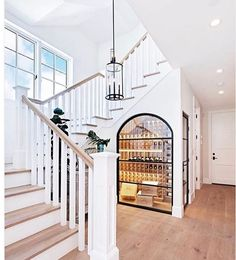 Relaxed California Beach House with Coastal Interiors Foyer. Relaxed California Beach House with Coastal Interiors Foyer. Foyer Staircase, Staircase Design, Staircase Storage, Under Stair Storage, Narrow Staircase, Open Stairs, Spiral Staircases, Floating Stairs, Basement Storage