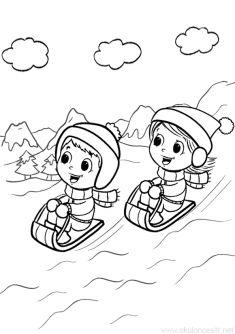 91 En Iyi Kis Mevsimi Boyama Sayfalari Winter Coloring Pages