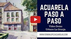 Video Demo Acuarela La Granja. Acuarela Fácil.