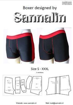 Patroon/mannen boxer/ pattern men boxer PATR02 by Sannalin on Etsy
